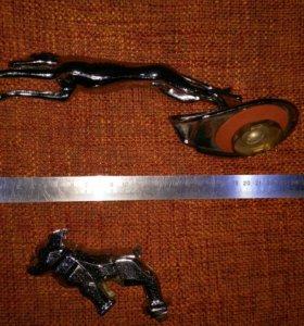 Фигурка автомобиль металл собака украшение дизайн