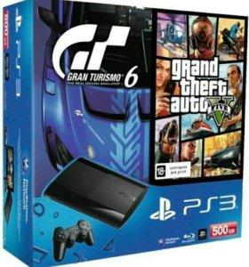 SONY PlayStation 3 Super Slim500Gb + GTA V+GRANDT6