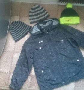 Куртка ветровка толстовка демисезонная шапки