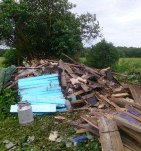 Очистка участков от мусора и металла. Покос травы