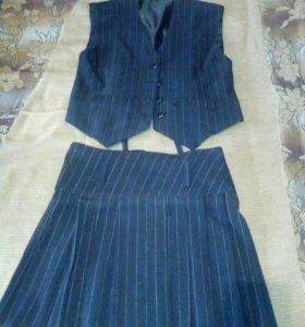 Новые юбка и жилет.