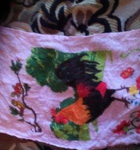 Розовое полотенце