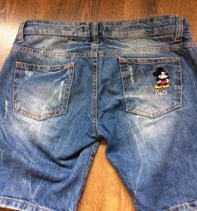 Модные Шорты джинсовые D&G