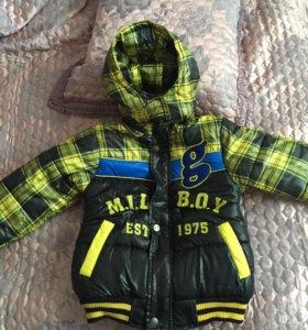 Куртка новая для мальчика 4-6 лет