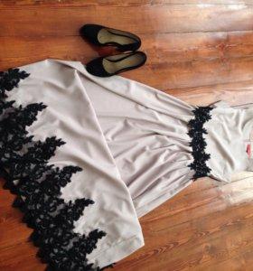Платье и туфли на вечер
