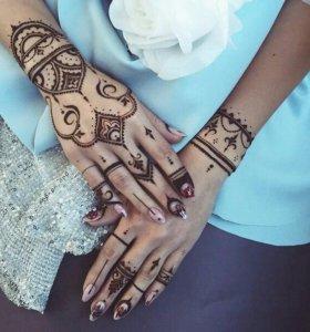 Мехенди(тату) роспись по телу хной