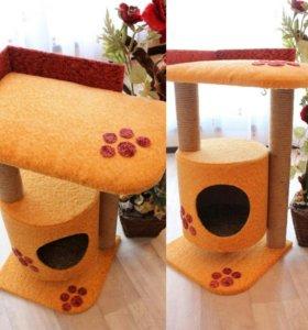 Угловой домик для кошки