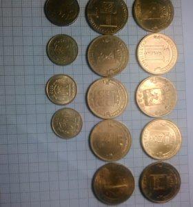 Монеты юбилейные,украинские,белорусская.
