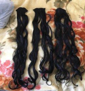 Волосы на заколках-трессы