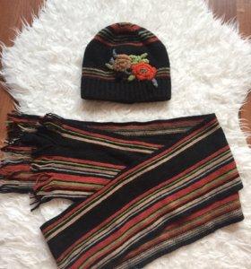 Шапка и шарф вязаные