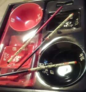 криативный набор посуды для суши. Романтик,подарок