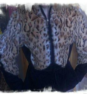 Куртка с мехом рыси