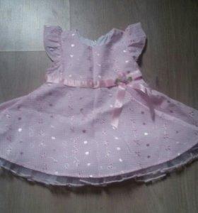Нарядное платье размер 3-6 месяцев