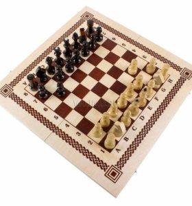 Шахматы+шашки 2в1