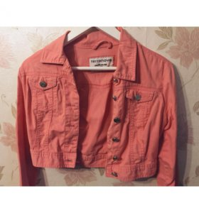 Джинсовая куртка (розовая)