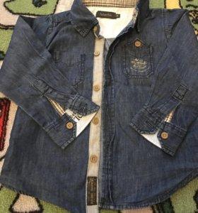 Рубашка джинсовая,р.92