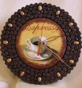 Кофейные часы ручной работы