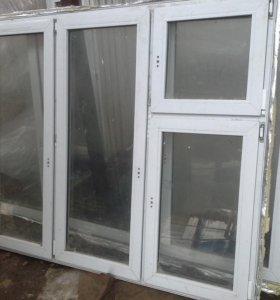 Окно пластиковое с новостройки