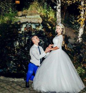 Шикарное Свадебное платье!Плюс подарки!(р.44-48)
