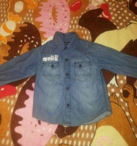Рубашка джинсовая р.98-104