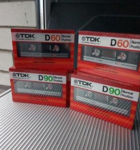 Аудиокассеты TDK D60 D90