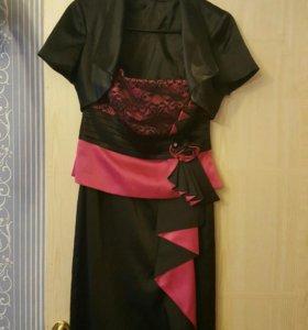 Платье коктейльное с балеро( одевалось два раза)