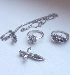Ювелирные украшения  серебро