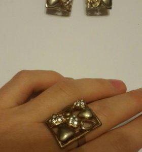 Набор украшения ( серьги + кольцо)