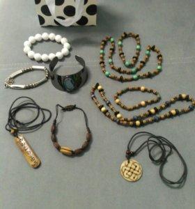 Пакет украшений (металл, дерево+серебряное кольцо)