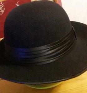 Шляпа женская фетр черная