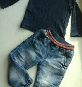 Кофта и джинсы 86-92
