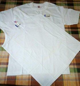 Белая майка и футболка