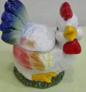 Новая! Курочка-баночка из керамики.