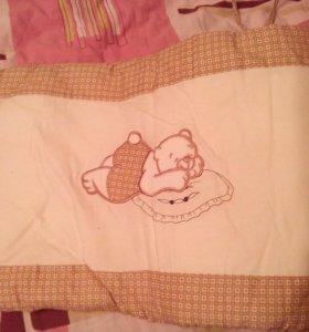 Бортик в кроватку+ балдахин