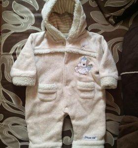 Детский комбинезон- тёплый слип 68