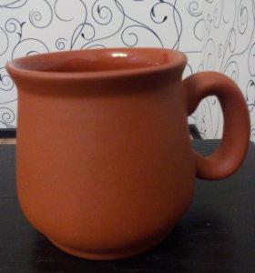 Чашка глиняная