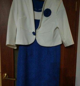 Платье, почти новое (одела один раз), размер 52-54