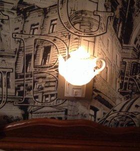 Светильник в разетку чайник