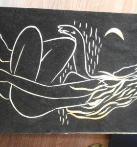 Картина из соломы