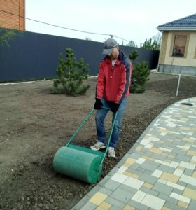 Устройство газона под ключ