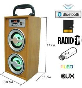 Портативная Bluetooth колонка с флешкой и радио