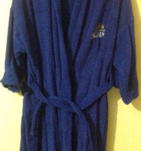 Халат и полотенце,новый набор