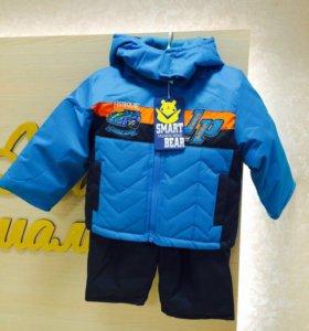 Куртки с комбинезоном демисезонные,новые!