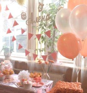 Декор на день рождения 1 год, годовасие,цифра один