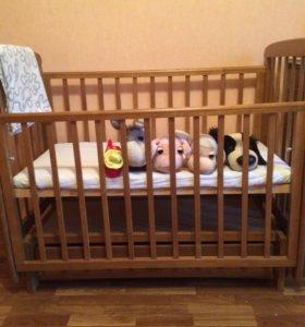 Кровать- маятник с ящиком