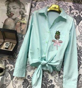 Хлопок рубашка стрекоза