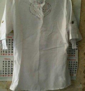 Рубашка со стразами. Б/У