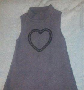 Платье тёплое 4-6 лет