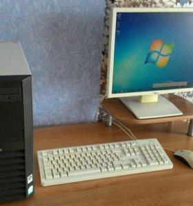 """Компьютер 2-ядра + монитор ЖК квадрат 17"""""""