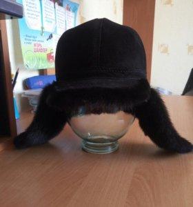 шапка зимняя,замша-норка. размер 56-58
